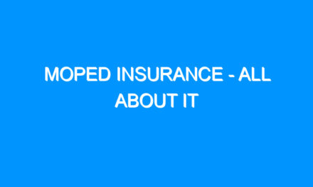 Moped Insurance – All About It