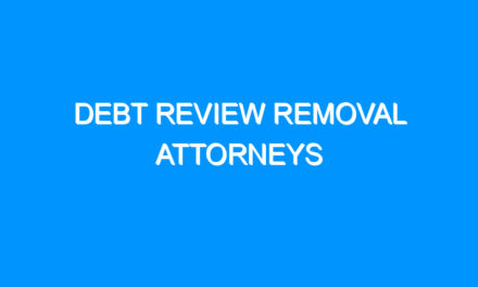 Debt Review Removal Attorneys