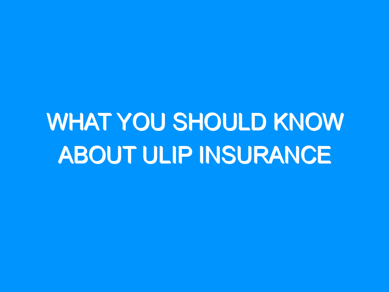 What You Should Know About ULIP Insurance