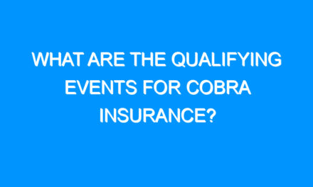 What Are the Qualifying Events for COBRA Insurance?