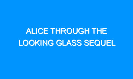 Alice Through the Looking Glass Sequel