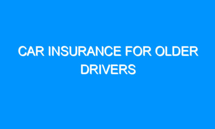 Car Insurance For Older Drivers