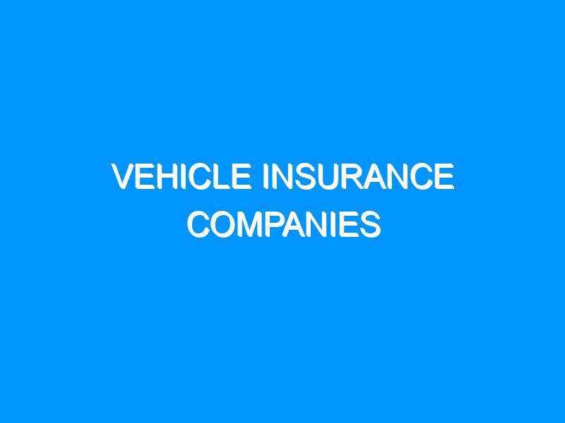Vehicle Insurance Companies