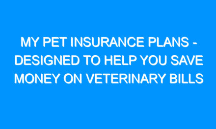 My Pet Insurance Plans – Designed to Help You Save Money on Veterinary Bills
